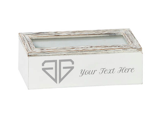 Glass Lid Grey Timber Box – Partitions