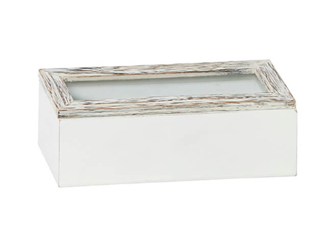 Glass Lid Grey Timber Box