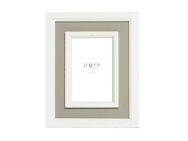 Small Grey/White Wood Frame
