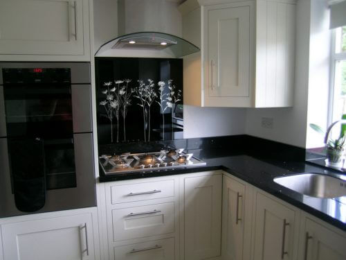 Custom Engraved Etched Kitchen Splashback Designs