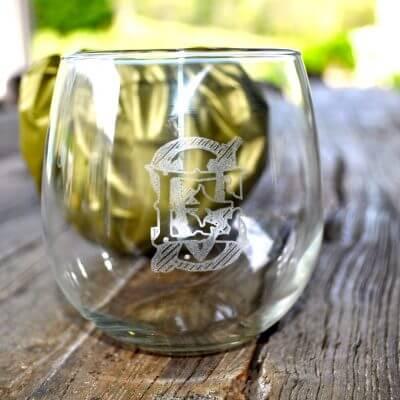 Stemless Wine Glass Set Of 6