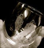 stemless wine glass sepia