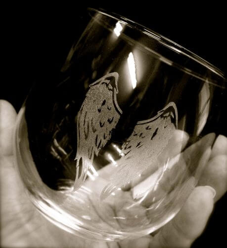 Stemless Wine Glass Sepia