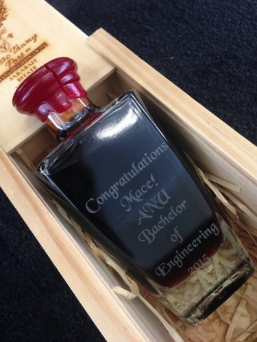 Engraved Gift Idea Port Bottle In Box