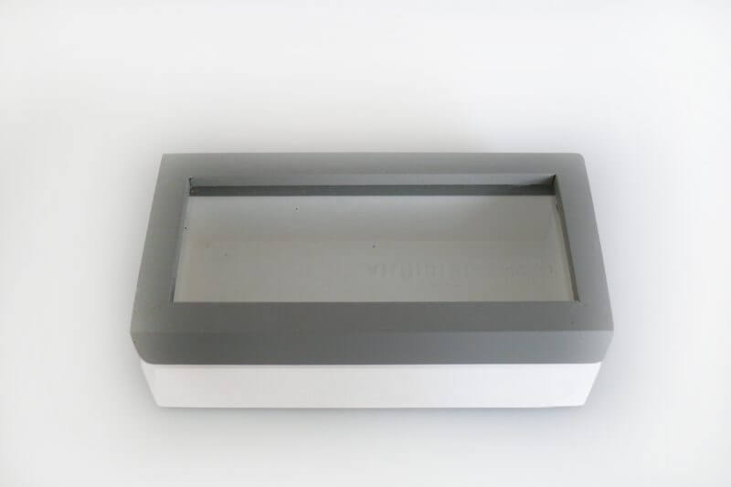 Wood Box With Glass Lid