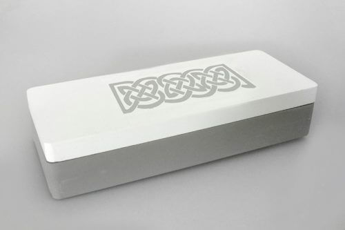 Grey And White Timber Box