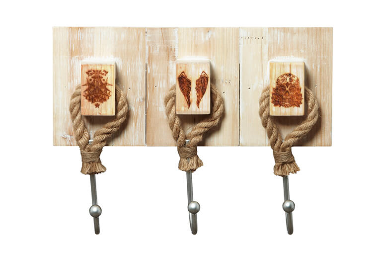Timber And Metal Rope Hooks