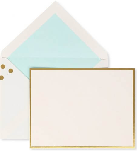 Kate Spade NY Correspondence Card Set – Gold Confetti Dots