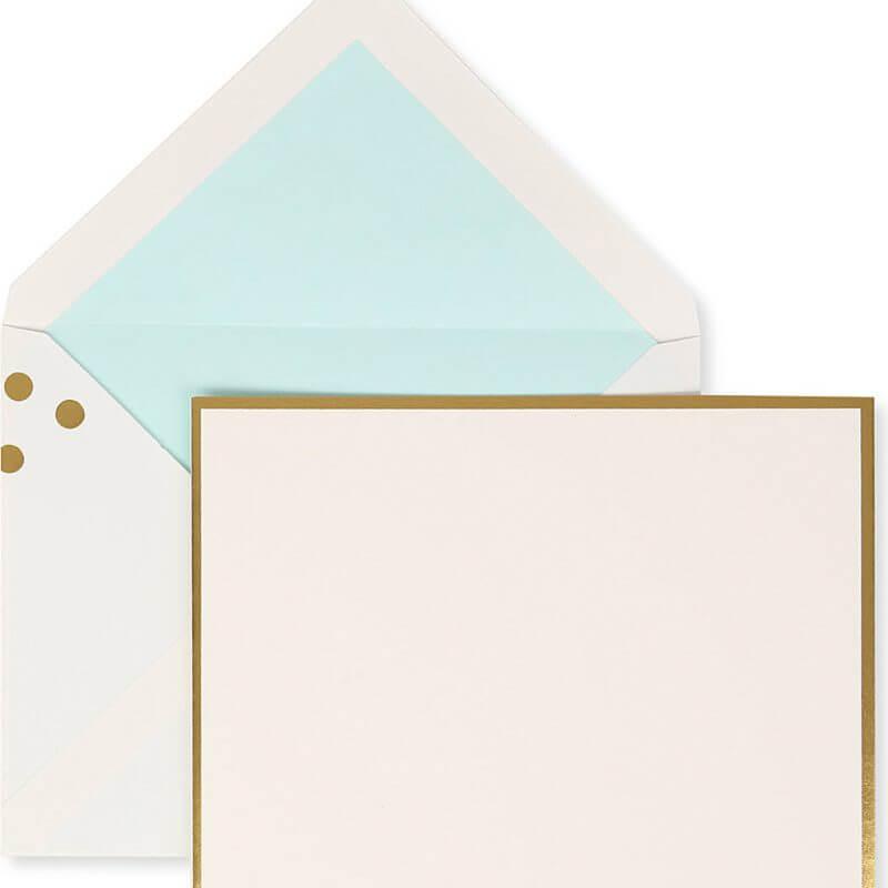 Kate Spade NY Correspondence Card Set – Gold Confetti Dots