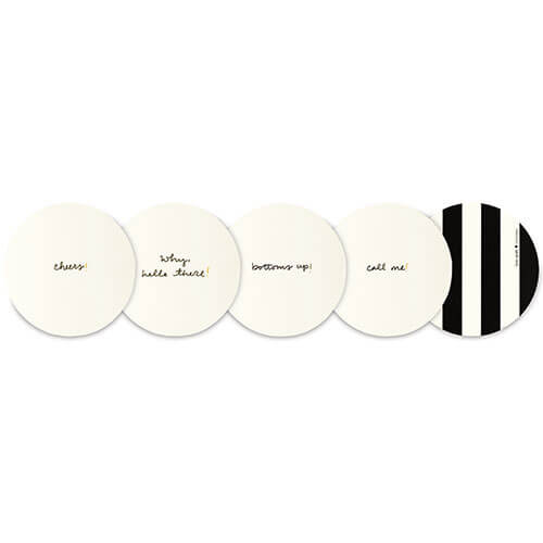Kate Spade NY Coasters – Black And White