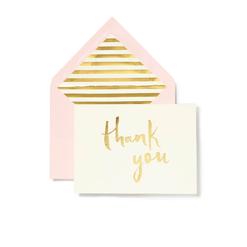 Kate Spade NY – Thank You 10 Set Gold
