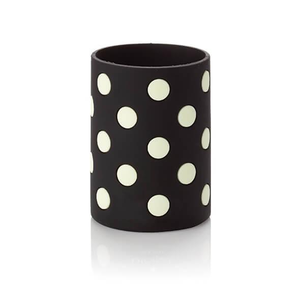 Kate Spade NY Silicone Drink Hugger – White Polka Dots