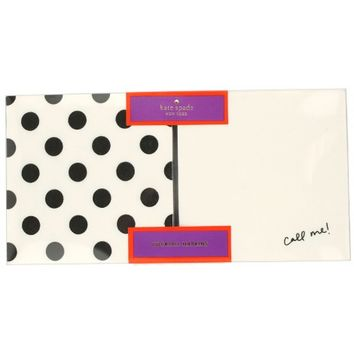 Kate Spade NY Cocktail Napkins – Black Polka Dots, Call Me