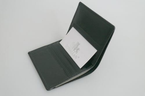 Black Leather Bi-Fold Wallet By Rowallan Of Scotland
