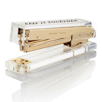 Kate Spade Acrylic Stapler With Engraving