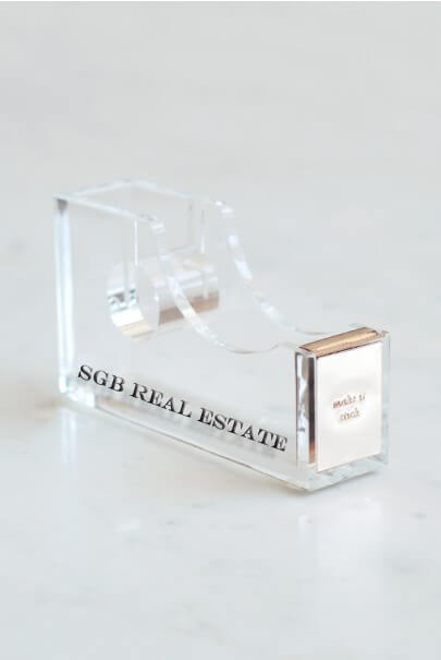 Kate Spade Acrylic Tape Dispenser With Engraving