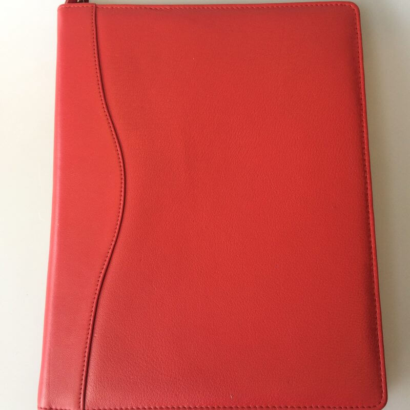 Oran Leather Ipad Folio Red