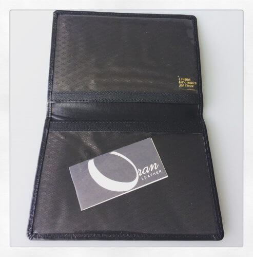 Oran Leather Black Passport Cover