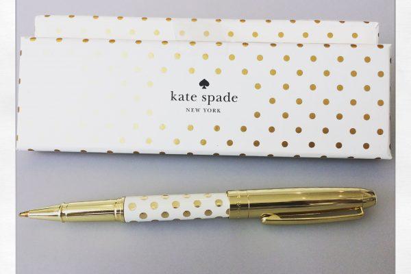 8a2b4642dd5 Kate Spade Gold Dots Ballpoint Pen - Grand Engrave
