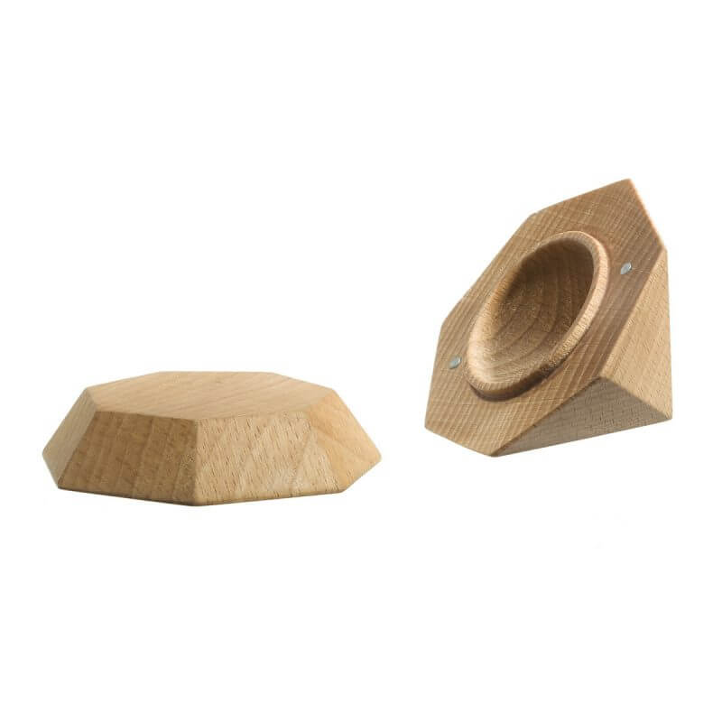 Wooden Diamond Shaped Jewellery Box