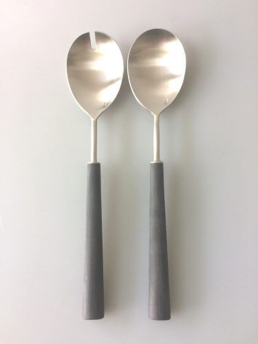 Cutipol Ebony Silver Salad Server Set