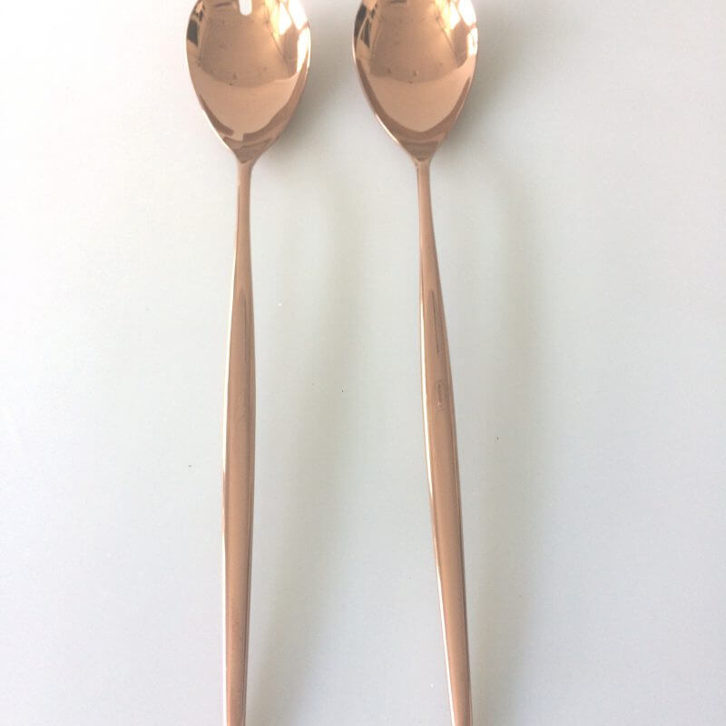 Cutipol Moon Copper Salad Server Set