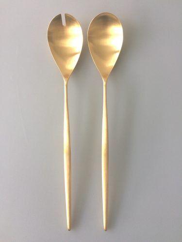Moon Matte Gold Salad Set
