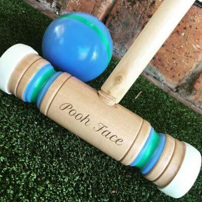 Engraved Wooden Croquet Set