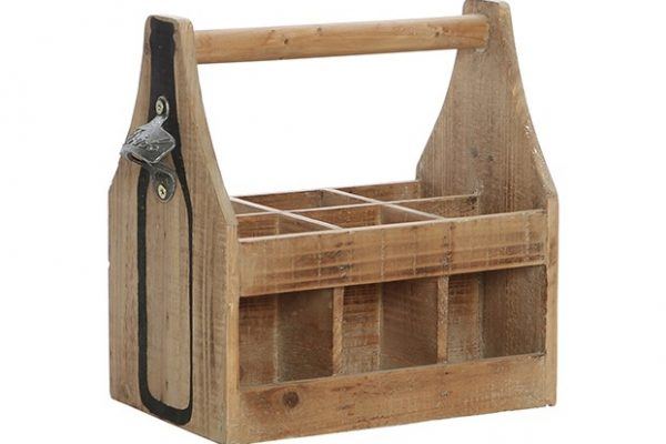 Wooden Beer Caddy Holder Grand Engrave