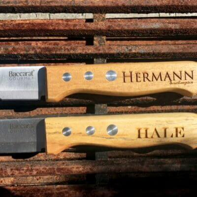 Baccarat Steak Knives Wood Comparison