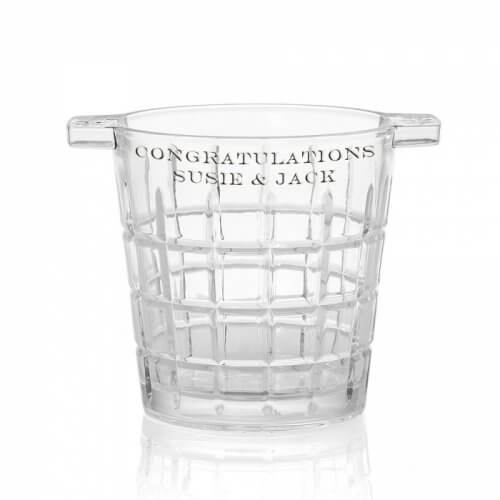 Personalised Gift Idea Louis Crystal Ice Bucket w Engraving