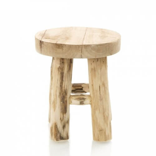 Natural Teak Wood Stool