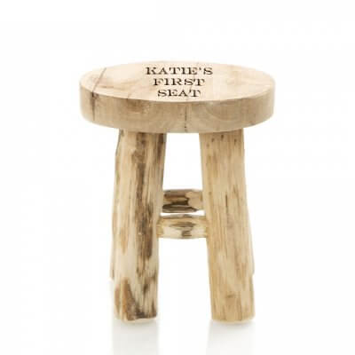 Natural Teak Children's Stool first seat