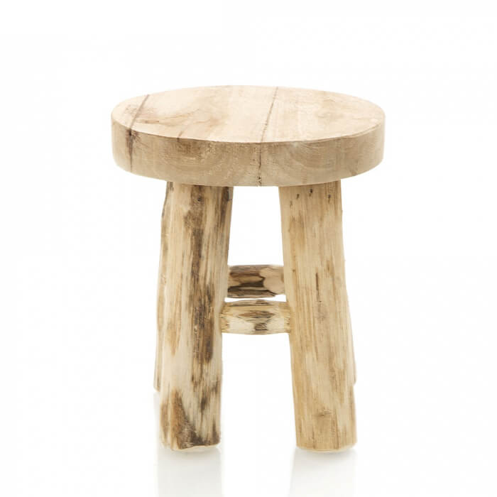 Natural Teak Wood Stool