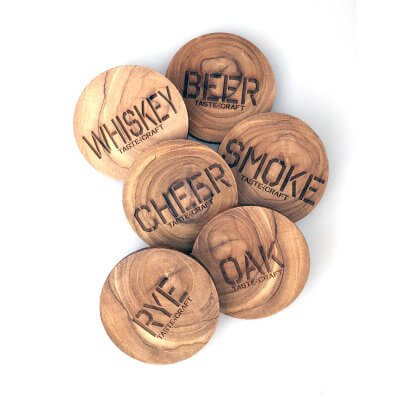 upcycled recycled teak wooden coasters personalised Grand Engrave Brisbane