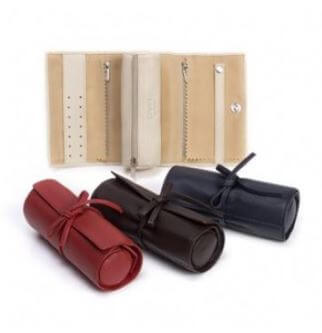 Leather Jewellery Roll By Oran