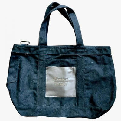 Large Canvas Tote With Engraved Leather Patch