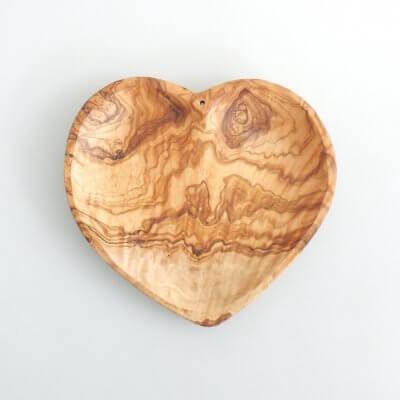 Olive Wood Heart Dish