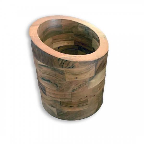 wooden wine holder ice bucket