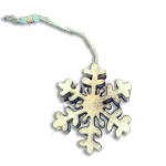 Wooden Snowflake Decal Decoration