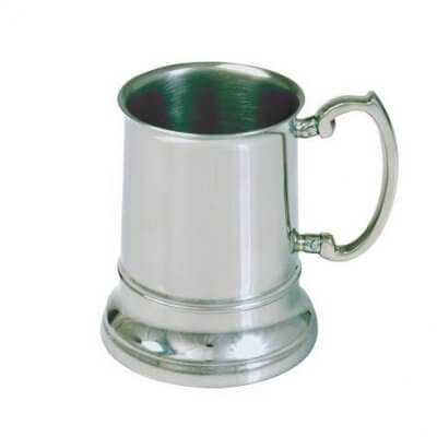 Engraved Stainless Steel Beer Mug Tankard (480ml)