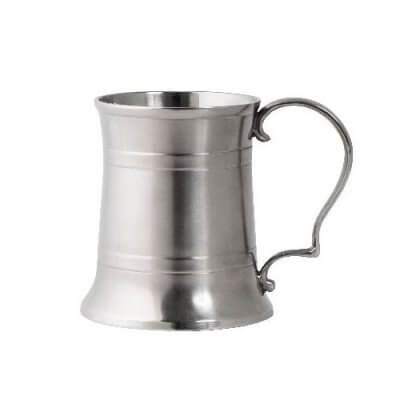 Engraved Pewter Beer Mug Tankard (380ml)